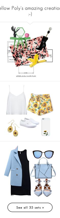 """Fellow Poly's amazing creations :-)"" by kohlanndesigns ❤ liked on Polyvore featuring interior, interiors, interior design, home, home decor, interior decorating, Kate Spade, Bitossi, Wandschappen and Moschino"