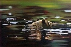 Artist rendition of photograph © Ocean/Corbis Acrylic on Canvas x x Visual Display, Canadian Artists, Brown Bear, Cheryl, Photograph, Ocean, In This Moment, Watercolor, Canvas