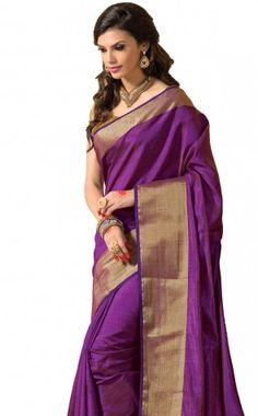 ASHIKA SOUTH TUSSAR SAREE COLLECTIONS-Purple-SUT2615-VO-Art Silk