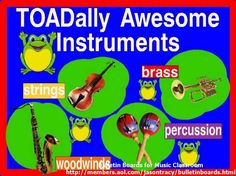TOADally Awesome Instruments Bulletin Board