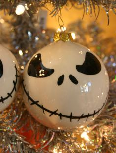 Skull Halloween Christmas Ornament by ShellHawksCreations on Etsy, $19.99