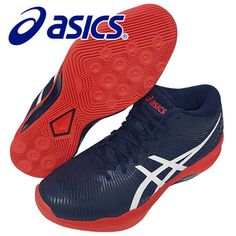 9c1642e7a1 ASICS VOLLEY ELITE FF MT Men s Volleyball Shoes Navy Badminton NWT  B700N-400