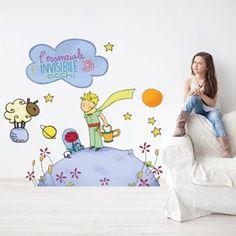 """Adesivo murale per bambini Wall Art """"Il Piccolo Principe 3"""" - Misure 120x70 cm - Decorazione parete, adesivi per muro, carta da parati"""