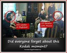 1- EXPOSING ISIS : LOOK AT THIS PIC. ISIS LEADER ALBAGHADI & US SENATOR JOHN MaCAIN . 2- ISIS WAS CREATED IN AMERICA .