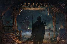 Abandoned Pier by Marco Menegaldo || CGMA Lost Civilizations Contest