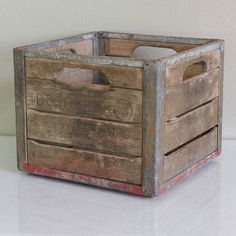 Old Amarillo Borden's Crate, $70, now featured on Fab.
