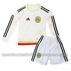 Camiseta seleccion de Mexico Nino Segunda 2015 2016 ML comprar camisetas de  futbol baratas en www.camisetasfutbolcomprar.com a6bf977662e47