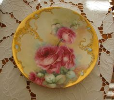 Most Gorgeous Antique Limoges France Hand Painted Plate