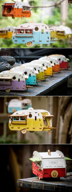 Even the birds need a vacation. Give them a place to relax with this camping inspired birdhouse