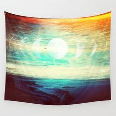 Beach Tapestry | Sunset Tapestry | Moon Phase Tapestry | Lunar Tapestry | Hippie Tapestry | Magical Tapestry | Ocean Tapestry | Sunset Tapestry | Boho Tapestry | Bohemian Tapestry by TheMindBlossom on Etsy
