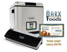 Contest ends tomorrow 10/2! Have you entered yet? You could win a SousVide Supreme water oven, Vacuum Sealer and 300 bucks to Marx Foods! Click on the photo to enter.