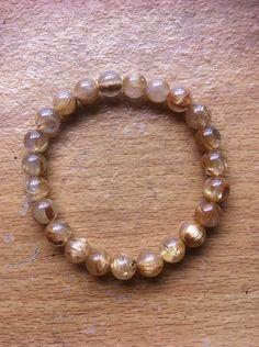 Golden Needle Rutile Bracelet for a 6 &1/2 Wrist by Crystalcures4u, $198.00