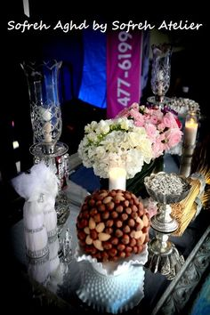 """Sofreh Aghd services by """"Sofreh Atelier"""" Persian weddings Washington DC  ombre flower centerpiece - photography by Ali Khaligh of """"Your Dream Shots"""""""