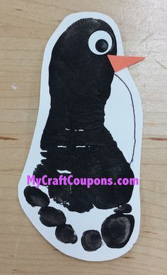 *Easy* Pot Belly Penguin Footprint Art