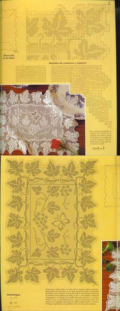 Салфетка-филейное вязание... <3 Deniz <3