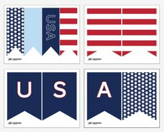 Free Printable July 4th Banner