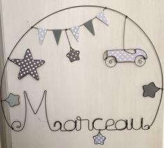 Prenom en fil de fer personnalisable decoration murale pour chambre d'enfant : Décoration pour enfants par chacha-des-etoiles-creations-personnalisees-en-fil-de-fer
