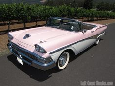 1958 Ford Fairlane Skyliner Convertible-and pink too!