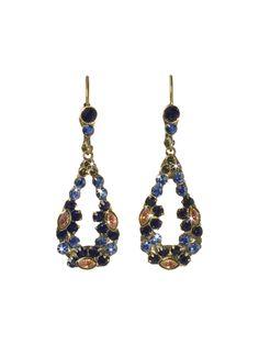 Floral Teardrop Earring in Blue Jean Dream by Sorrelli