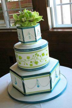 Green Cakes Flower topper