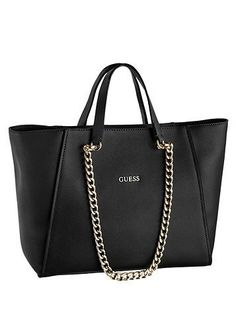 d6a041f914f6 Schuhe Damen Sportlich - Guess Handtasche mit Kettenapplikation - schwarz -  GUESS
