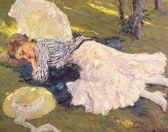 Edward Cucuel 1875-1954   American Impressionist painter