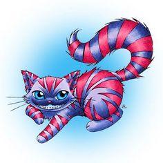 Chesire Cat digi stamp in Digital images - Alice in Wonderland