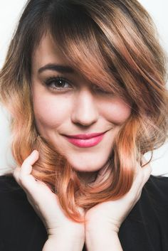 Yes, Even Brunettes Can Pull Off the Pastel Hair Trend! See how she got this gorgeous Rose Gold color