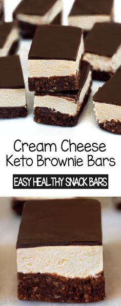 Keto Chocolate Brownie Healthy Snack Bars Low Carb Chocolate, Healthy Chocolate, Chocolate Desserts, Brownie Recipes, Dessert Recipes, Keto Recipes, Keto Foods, Easy Recipes, Healthy Snack Bars
