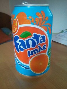 Blue Orange Greece Fanta