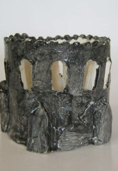ceramic candlestick handmade