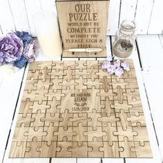 Jigsaw Puzzle Guest book for Wedding Wooden Wedding Guest Book, Guest Book Sign, Wedding Book, Wedding Signs, Guest Books, Wedding Guest Gifts, Wedding Decorations, Wedding Favors, Wedding Souvenir
