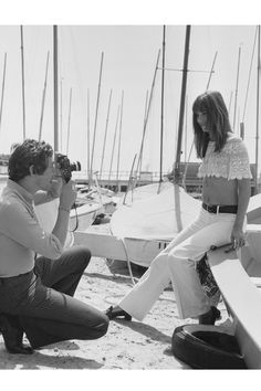 Jane Birkin in Cannes, France, 1969. See 51 more rare, vintage photos of celebrities enjoying summer.