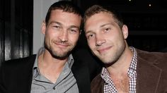 Jai Courtney and Andy Whitfield  Spartacus