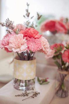 Arreglo floral con claveles