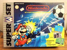 Nintendo NES Super 3 Set Original Umkarton komplett inkl. Modul 3 Spiele
