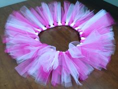 Hot pink and light pink tutu by @PrissiePants on Etsy