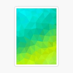 Green Fields, Triangle Pattern, Cool Stickers, Spring Time, Abstract, Summary