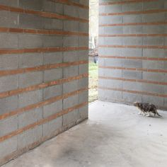 Image 10 of 31 from gallery of 8 House / KM 429 architecture. Photograph by Simone Bossi photographer Brick Design, Wall Design, House Design, Compound Wall, Brick Art, Brick Detail, Boundary Walls, Concrete Houses, Backyard Fences