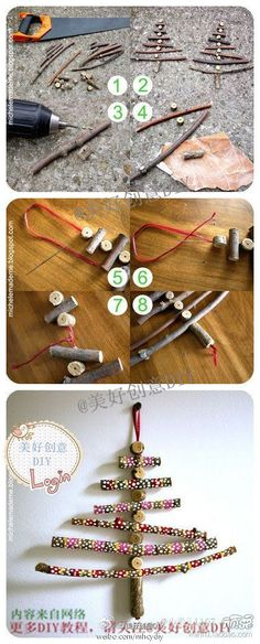 DIY Tree Branches Christmas Tree DIY Projects