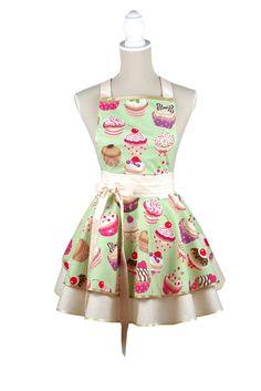 Cupcake kuchynská zástera / Cupcake luxury kitchen apron