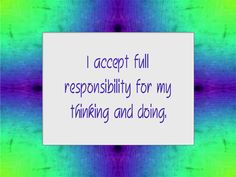 Daily Affirmation for November 8, 2012