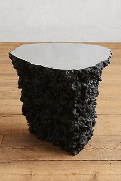 Lava Stone Side Table - anthropologie.com