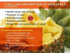 Pineapple cough suppressant recipe
