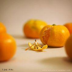 """Orange boat"" http://miniature-calendar.com/130726/"