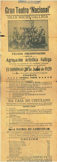 """A patria do labrego"", programa de man orixinal .  SIGNATURA: PRO 04/105 http://kmelot.biblioteca.udc.es/record=b1426543~S1*gag"