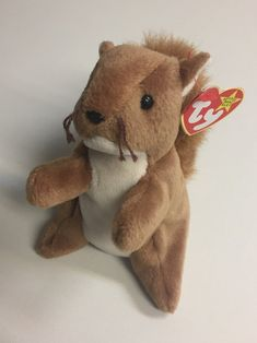 Items similar to Rare Original Beanie Baby 1996 Nuts Squirrel on Etsy Sell Beanie Babies, Expensive Beanie Babies, Valuable Beanie Babies, Beanie Babies Value, Original Beanie Babies, Princess Diana Beanie Baby, Baby Squirrel, Ty Beanie Boos, Cute Stuffed Animals