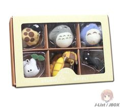 Studio Ghibli Collection Keychain Set of 6 -- (Mushroom, Large Totoro, Blue Totoro, Sho Totoro, Neko bus, Tokage)