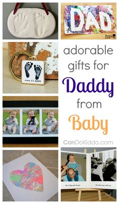Adorable Gifts For Dad From Baby — CanDo Kiddo - Adorable Father's Day gifts for Dad. DIY and personal presents for Daddy from baby. Diy Christmas Gifts For Dad, Diy Birthday Gifts For Dad, Valentine Gift For Dad, Baby Gifts For Dad, Homemade Gifts For Dad, Gifts For New Dads, Baby Girl Gifts, Christmas Baby, Girl Birthday