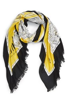 kate spade new york 'new york map' print scarf available at #Nordstrom